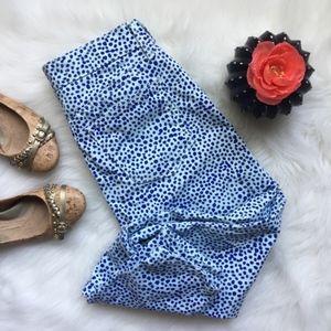 GAP Legging Jeans Blue White Watercolor Dots